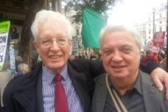 With Hugh Lanning Palestine Solidarity chair.
