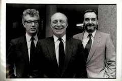 With Neil Kinnock and Tom Sawyer