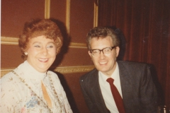 With Olwyn Davies NUPE EC member