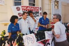 RKB talking to NUPE nurses on Nicaragua Solidarity stall