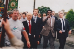 RKB at Tolpuddle Rally in Dorset with Tony Blair and Bill Morris