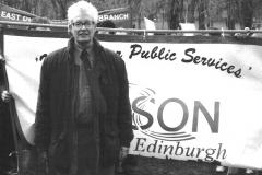 With Edinburgh Branch Banner 1998