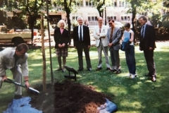 Planting of the NUPE commemorative tree